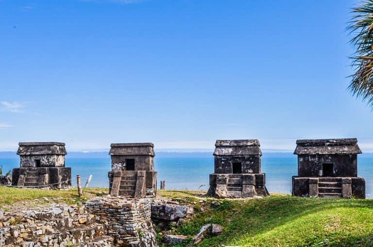 sitio arqueológico Quiahuiztlán en Actopan Veracruz