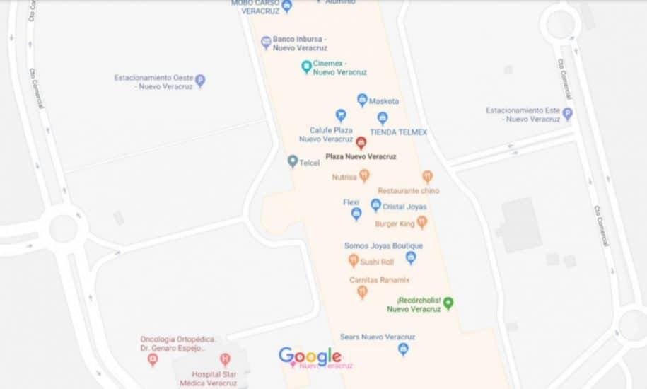 Mapa de la plaza Nuevo Veracruz