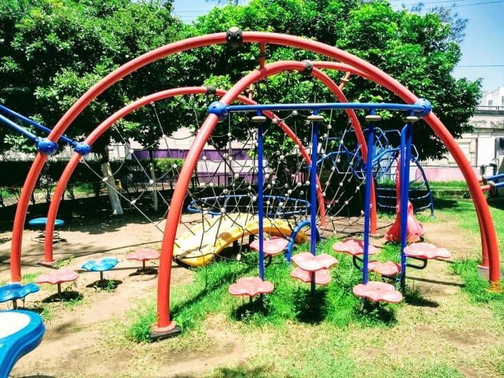 área de juegos en el parque recreativo Cri Cri en Veracruz
