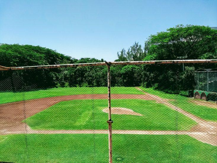 Cancha de softball en el Parque Ecológico Adolfo Ruiz Cortines en Veracruz