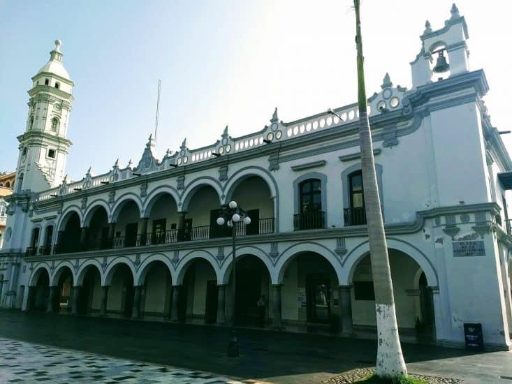 Palacio Municipal en el Zócalo de Veracruz