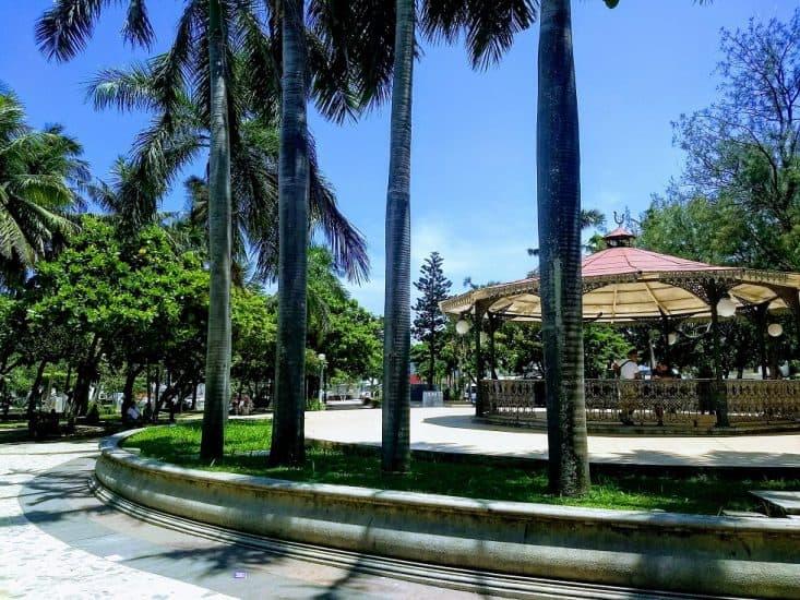 Parque Zamora en el centro de Veracruz