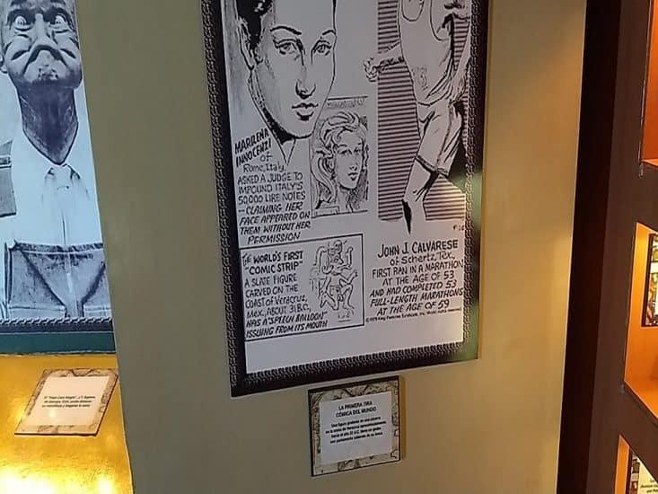 Primer tira comica del mundo en el museo de Ripley en Veracruz