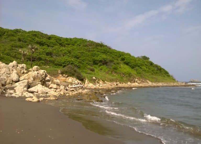 Rumbo a la quebrada de playa villa rica en actopan