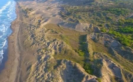 parapente en las dunas del farallon