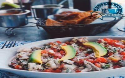 Ceviche de pescado en el Jaibon