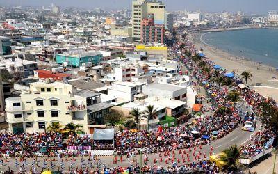 vista aerea del carnaval de veracruz
