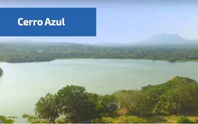 vista de las lagunas en cerro azul