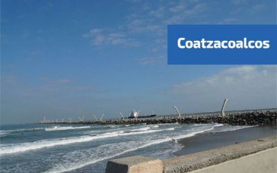 vista del boulevard y la playa de coatzacoalcos