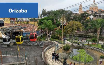 Vista del teleférico de Orizaba