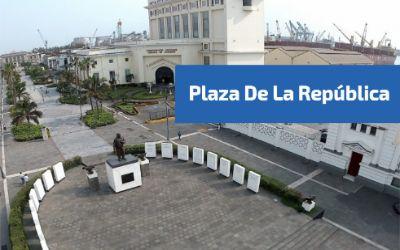 Vista aerea de la plaza de la repulbica