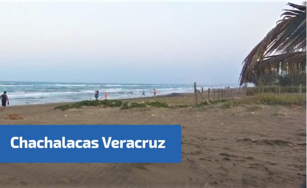 vista de la playa de Chachalacas Veracruz