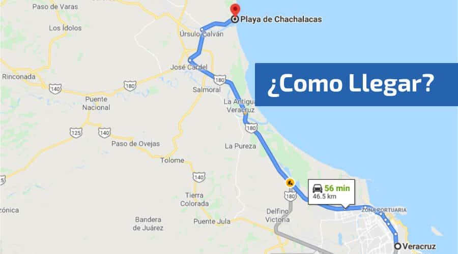 Como llegar a Chachalacas desde Veracruz