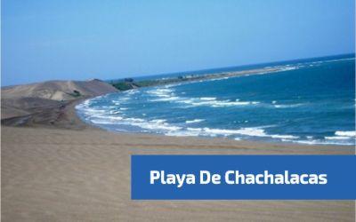 vista lateral de la playa de chachalacas