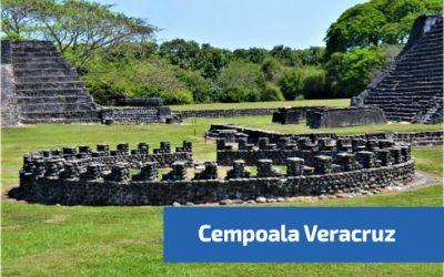 vista central de la zona arqueologica de cempoala