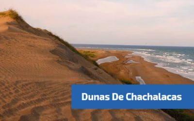 vista desde la cima de las dunas de chachalacas