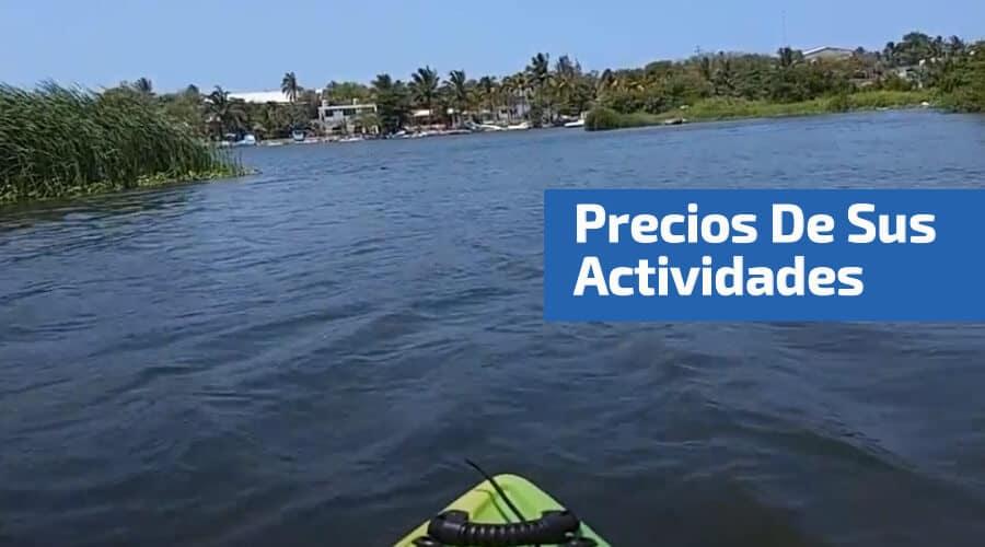 kayak en el río chachalacas