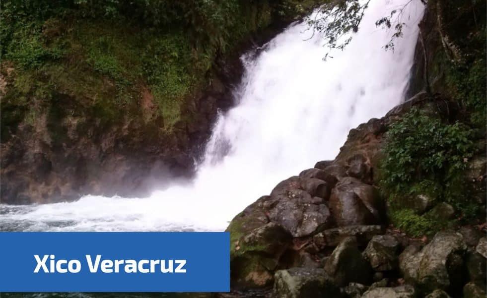 Vista de las cascadas en Xico Veracruz
