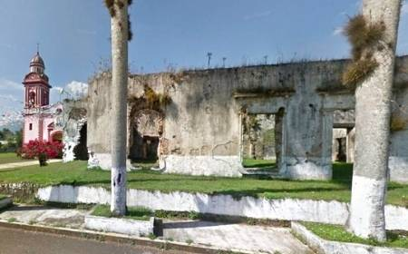 vista del exterior de la Ex Hacienda de Monte Blanco