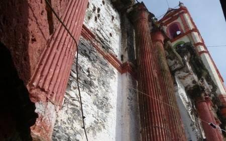 Pared lateral del Templo de Santa Cecilia en Huatusco