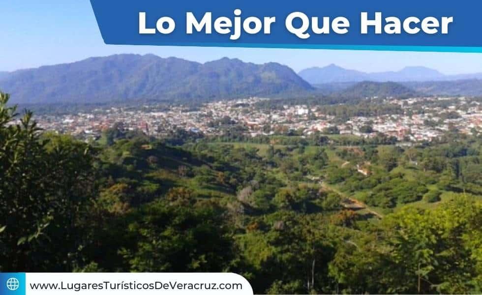 Vista desde un mirador a Huatusco Veracruz