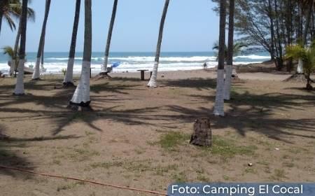 vista desde la costa de la playa el ensueño